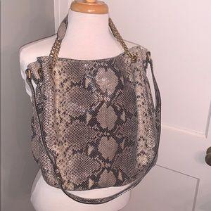 Michael Kors Leather Snakeskin HoBo Handbag